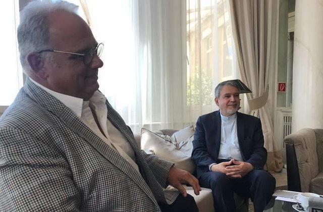 دیدار صالحی امیری با رئیس اتحادیه جهانی کشتی