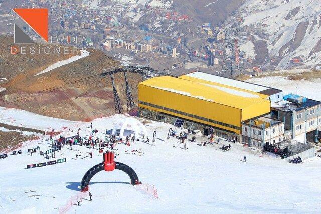برگزاری مسابقات فری راید در پیست اسکی دربندسر