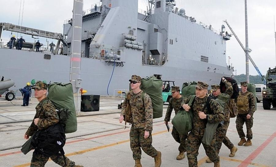 بخشی از تفنگداران آمریکایی از اوکیناوا به گوام منتقل می شوند