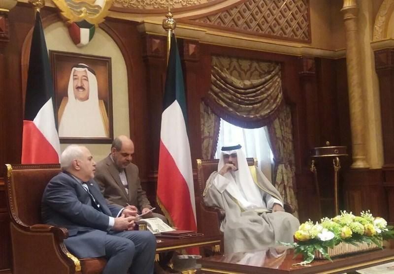 دیدار و گفتگوی ظریف با ولیعهد و وزیر خارجه کویت