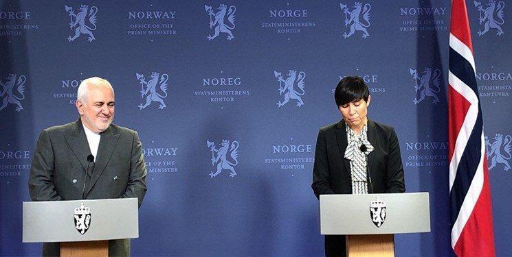 نشست خبری وزرای خارجه ایران و نروژ، توضیح ظریف درباره سفرش به پاریس