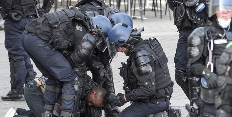 تظاهرات در فرانسه به خشونت کشیده شد، 35 نفر دستگیر شدند