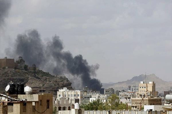 بمباران استان صنعاء یمن توسط جنگنده های متجاوز سعودی