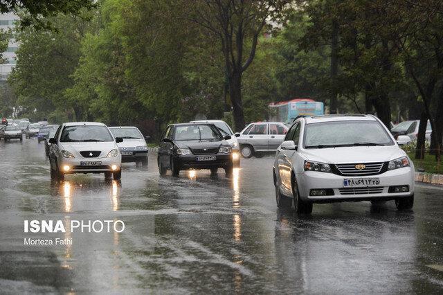 بارش برف و باران در بعضی جاده های کشور