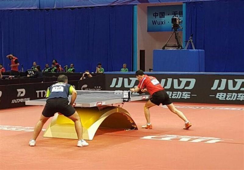 تیم پینگ پنگ مردان ایران با دو رده سقوط در صندلی نهم ایستاد