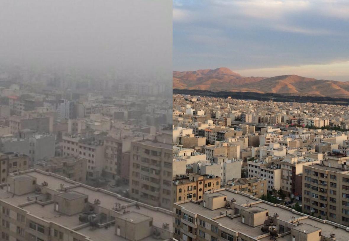 غلظت ذرات معلق در بعضی مناطق تهران افزایش یافت