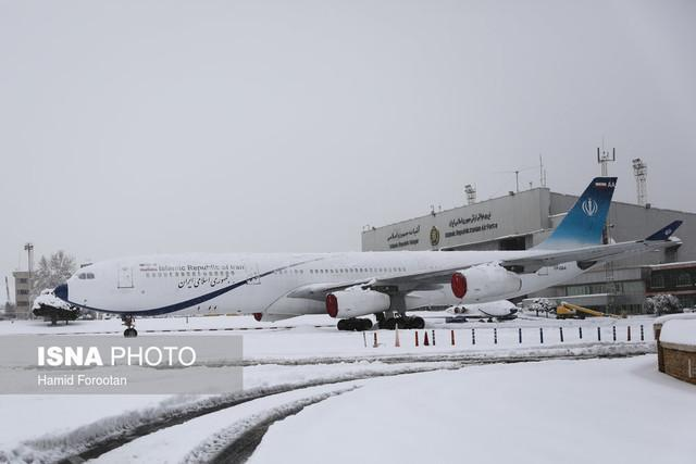 آخرین شرایط پروازها در هوای برفی امروز