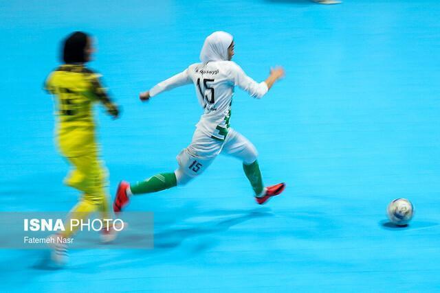 چهارمین برد دختران فوتسال در کافا، قهرمانی ایران قطعی شد