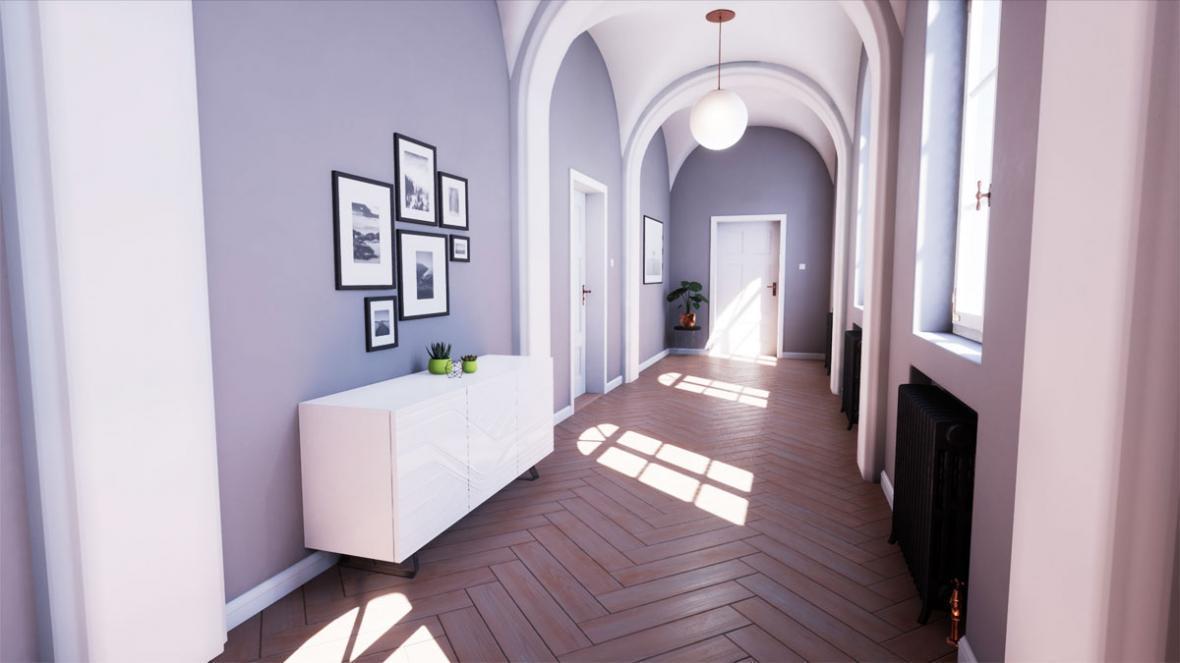 رنگ مناسب راهرو : زیبایی خانه و استقبال گرم از میهمانان