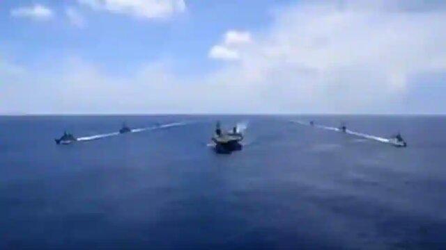 مانور مشترک دریایی هند و آمریکا در اقیانوس هند