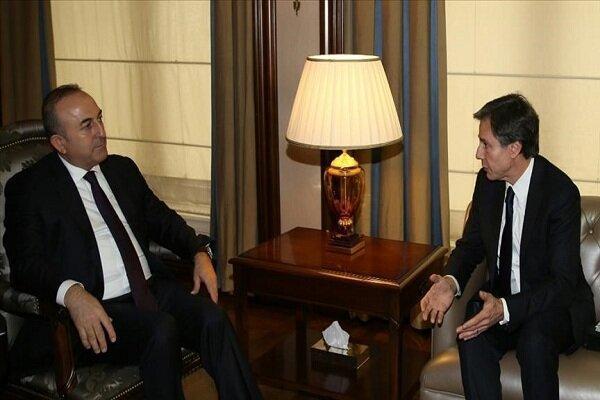 وزرای خارجه ترکیه و آمریکا تلفنی مصاحبه کردند