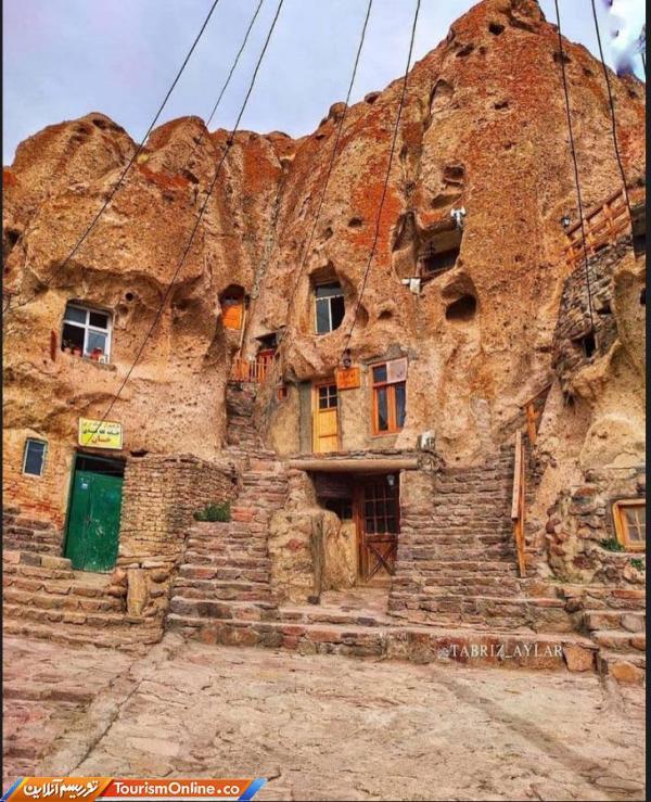 معماری صخره ای خاص و عجیب روستای تاریخی کندوان ، تصاویر