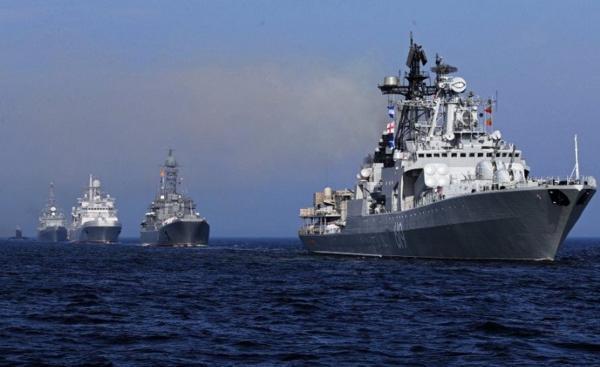 شلیک اخطار کشتی جنگی و جنگنده روس به سمت ناو انگلیسی