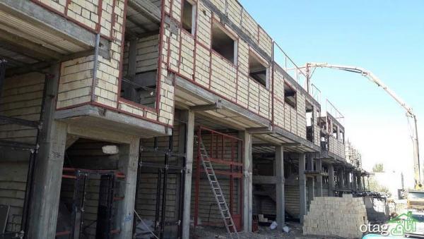 وال پست و نبشی کشی در نمای ساختمان