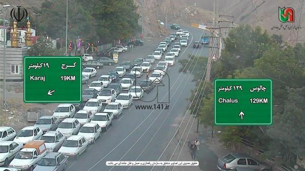 حجم بالای خودرو ها در مبادی ورودی به تهران